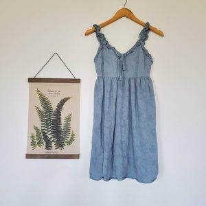 V-Neck Textured Babydoll Dress